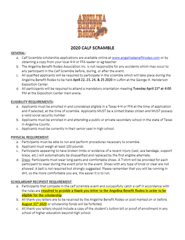 Scholarship App Calf Scramble - 2020 FORM FILL-thumbnail